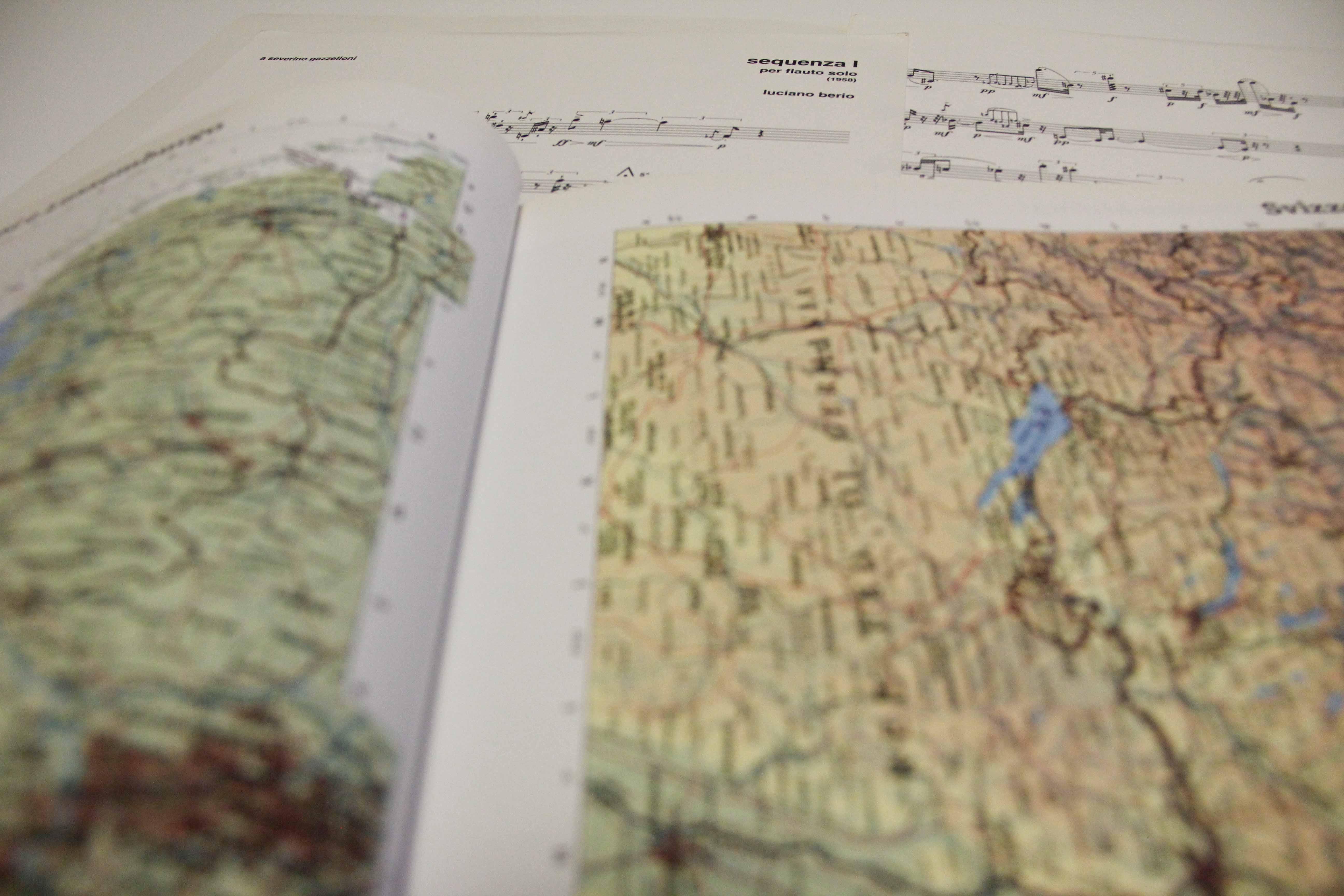la partitura come carta geografica